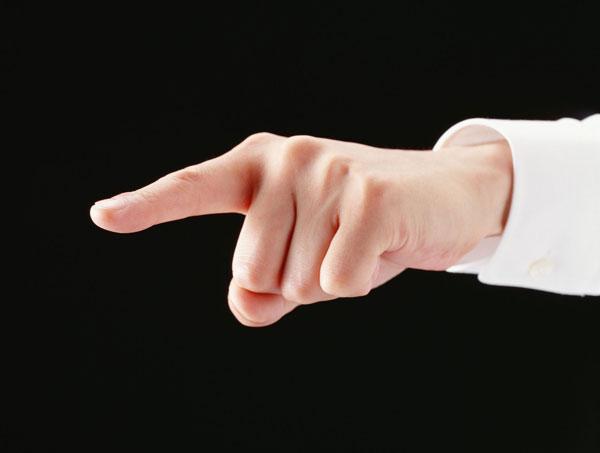 استفاده از انگشت اشاره