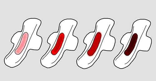 انواع رنگ خون پریودی