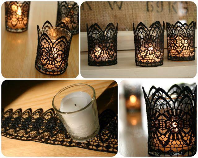 تزئین شمع با تور