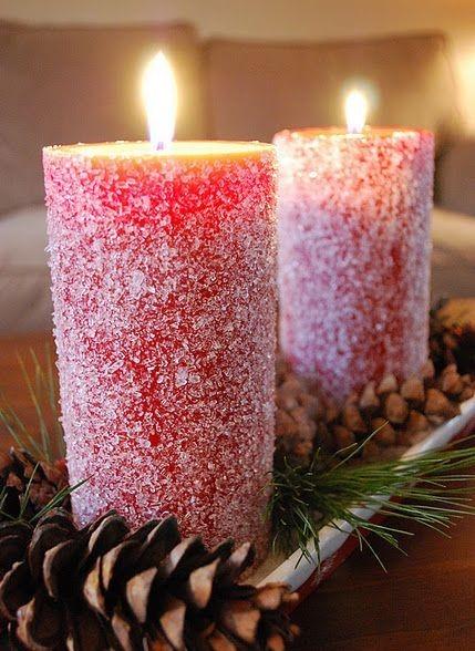 تزئین شمع با دانه های شکری