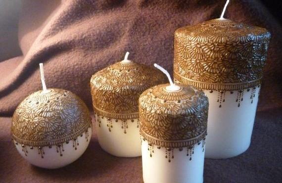 تزئین شمع با نقاشی
