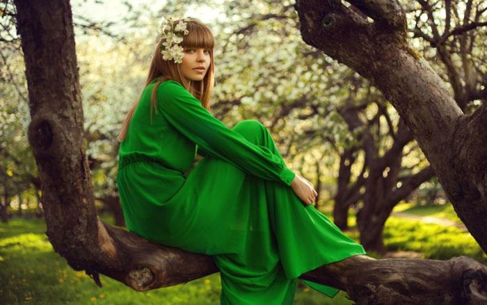 روانشناسی رنگ سبز در لباس ها