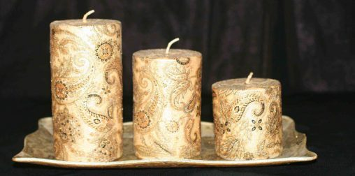 ساخت شمع برای سفره سین نوروز