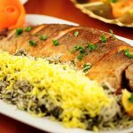 سبزی-پلو-با-ماهی-قزل-آلا
