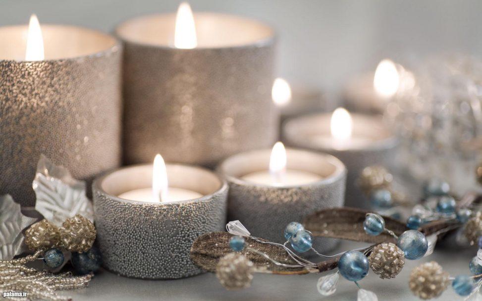 شیوه های تزئین شمع برای سفره هفت سین