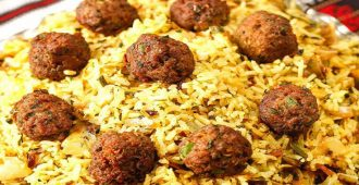 طرز تهیه ی کلم پلوی شیرازی