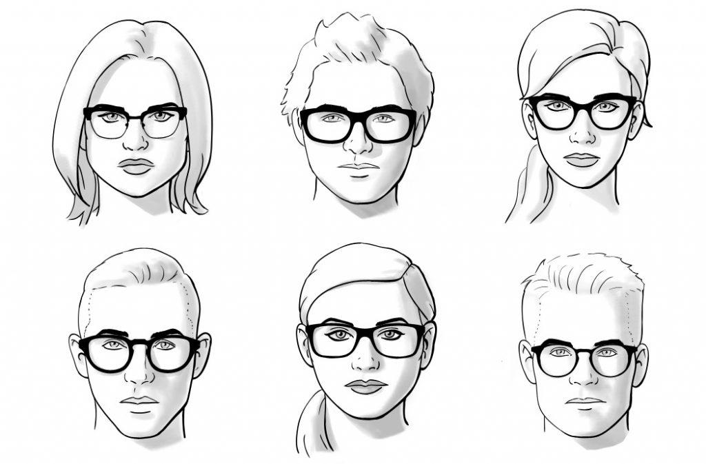 فرم صورت و عینک مناسب