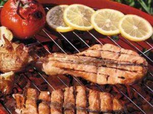 ماهی-سالمون-کبابی