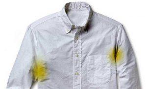 نحوه پاک کردن لکه ی عرق از روی لباس2