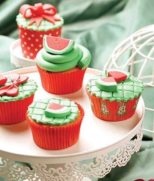 کاپ کیک هندوانه ويژه شب يلدا🍉🍰